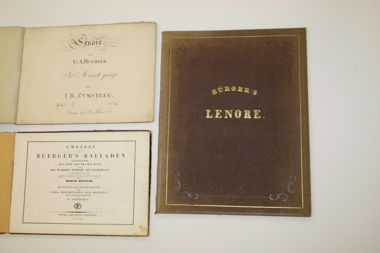 """Lenore fuhr um's Morgenrot  Gottfried August Bürgers Ballade """"Lenore"""" in der graphischen Sammlung"""