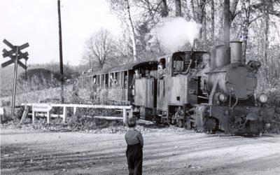 Eine Lokomotive im Gartetal