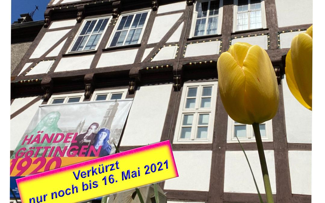Händel-Ausstellung noch bis 16. Mai 2021 geöffnet